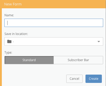 Create Standard Form Maxemail User Guide
